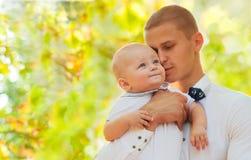 Отец и сын Стоковое Изображение RF