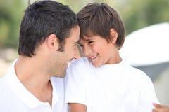 Отец и сын стоковое фото rf