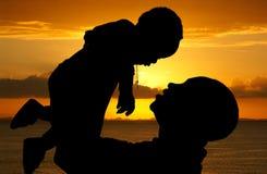 Отец и сын стоковые фотографии rf