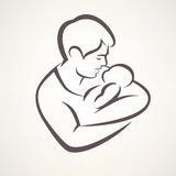 отец младенца иллюстрация вектора