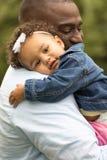 отец дочи афроамериканца Стоковое Изображение