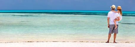 отец дочи пляжа Стоковое Фото
