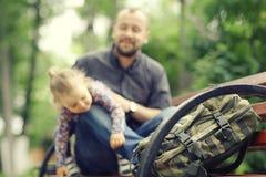 Отец путешествует с дочерью Стоковые Фото