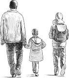 Отец с его детьми Стоковые Фото