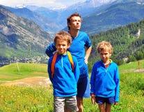 Отец с детьми Стоковые Фотографии RF