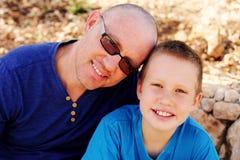 Отец с сынком стоковое изображение rf