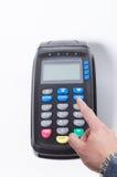 Отжимать кнопку меню на машине кредитной карточки Стоковое Изображение RF