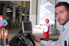 отжимать панели оператора ключей управления Стоковая Фотография RF