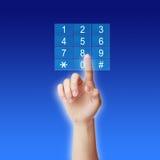 Отжимать пусковую площадку номера ключевую стоковые изображения rf