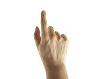 отжимать руки кнопки Стоковая Фотография RF
