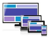 Отзывчивая иллюстрация веб-дизайна 3D Стоковое Изображение