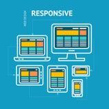 Отзывчивая конструктивная схема веб-дизайна вектор Стоковое Изображение