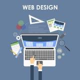 Отзывчивая конструктивная схема веб-дизайна Стоковое фото RF