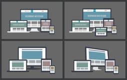 Отзывчивые модель-макеты экрана Стоковые Изображения