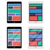 Отзывчивый веб-дизайн на таблетке 2 изменения Отражательный экран Стоковая Фотография RF