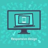 Отзывчивый веб-дизайн Стоковое Изображение