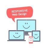 Отзывчивый веб-дизайн Стоковые Фото