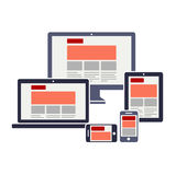 Отзывчивый веб-дизайн Стоковые Изображения RF