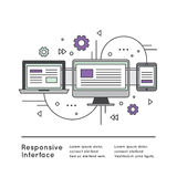 Отзывчивый пользовательский интерфейс Стоковая Фотография
