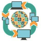 Отзывчивый шаблон веб-дизайна Стоковые Изображения