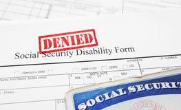 Отказанное применение инвалидности социального обеспечения стоковое изображение