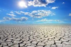 Отказы засухи, холодный заход солнца, Стоковые Изображения RF
