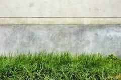 Отказы и трава цемента предпосылки темные Стоковые Изображения
