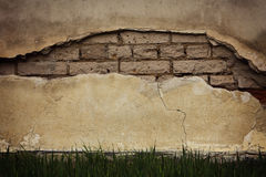 Отказ в старой стене Стоковые Изображения RF