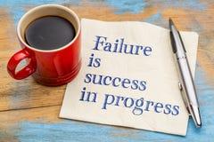 Отказ успех в прогрессе Стоковая Фотография