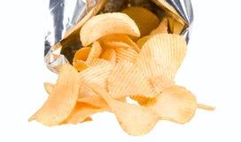 откалывает золотистые картошки с богатым вкусом Стоковые Изображения