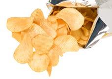 откалывает золотистые картошки с богатым вкусом Стоковое Изображение