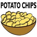 откалывает картошку Стоковое Фото