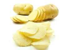 откалывает картошку Стоковое Изображение