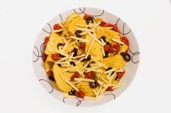 откалывает оливки nacho Стоковые Фотографии RF