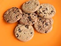 откалывает печенья шоколада стоковое изображение