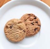 откалывает печенья шоколада стоковые фото