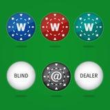 откалывает покер интернета Стоковое Изображение