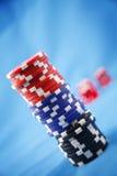 откалывает покер стоковое фото rf