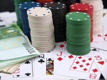 откалывает покер Стоковые Изображения RF