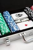 откалывает покер Стоковая Фотография