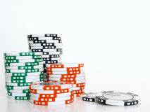 откалывает покер стоковое изображение rf