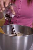 откалывает сбрасывать печений шоколада Стоковая Фотография