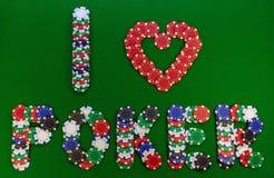 откалывает творческий покер влюбленности I стоковое изображение