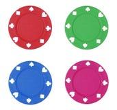 откалывает цветастый покер Стоковые Фотографии RF