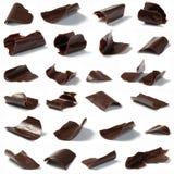 откалывает шоколад Стоковое Изображение RF
