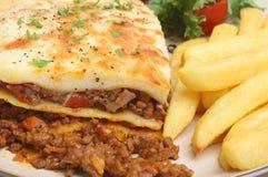 откалывает lasagna Стоковая Фотография