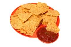 откалывает tortilla сальса Стоковое Изображение RF