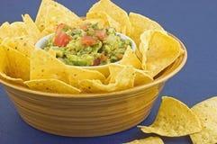 откалывает tortilla guacamole Стоковые Изображения