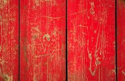 откалыванная древесина типа панели краски grunge красная Стоковое Фото