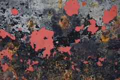 Откалыванная краска текстурировала предпосылку от дна шлюпки стоковое фото
